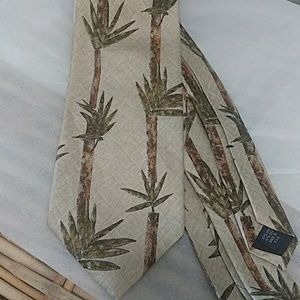 Bamboo Design Linen & Silk Tie